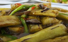 Roasted eggplant at Golden Lily restaurant in Vava'u